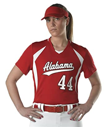 00430bc24 Amazon.com: Alleson GIRLS SHORT SLEEVE FASTPITCH SOFTBALL UNIFORM JERSEY:  Clothing