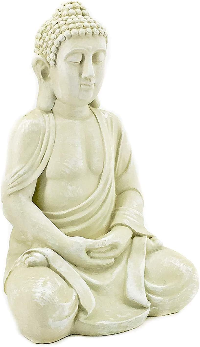 Bellaa 23615 Buddha Statues Meditation Outdoor Garden Decor Lucky Budha Japanese Zen Buddhist Present