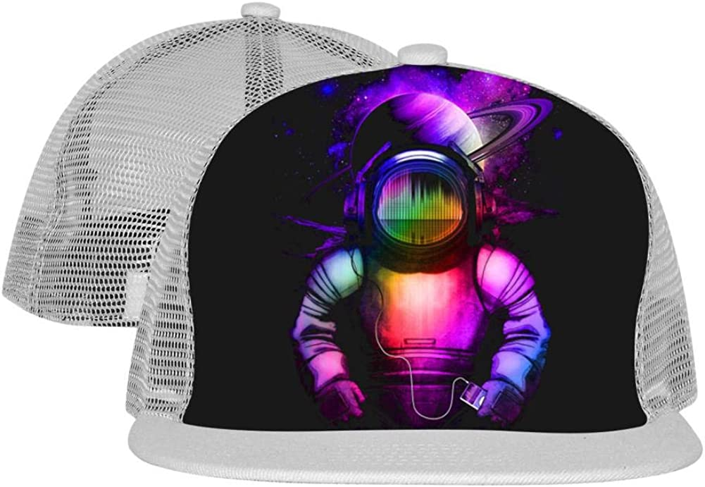 Music in Space Unisex Mesh Cap Fitted Adjustable Fashion Baseball Hats