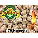 Lightning Nuggets AN170 Fire Starters, 2x2x1.1/4, Tan