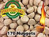 Lightning Nuggets AN170 Fire Starters, 2x2x1.1/4, Tan