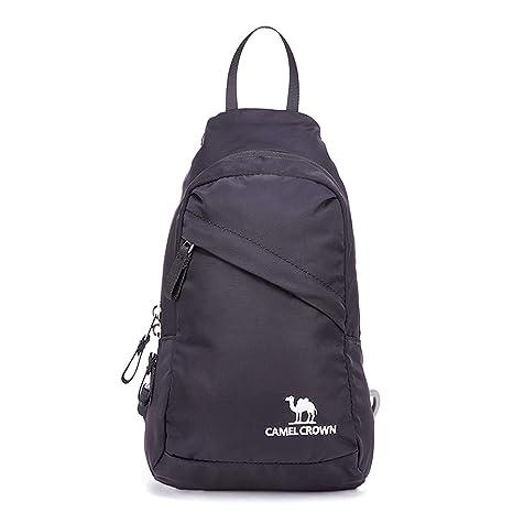 6579e438a9c Image Unavailable. Image not available for. Color  CAMEL CROWN Chest Bag  Crossbody Bag Sling Backpack Shoulder Backpack for Men and Women
