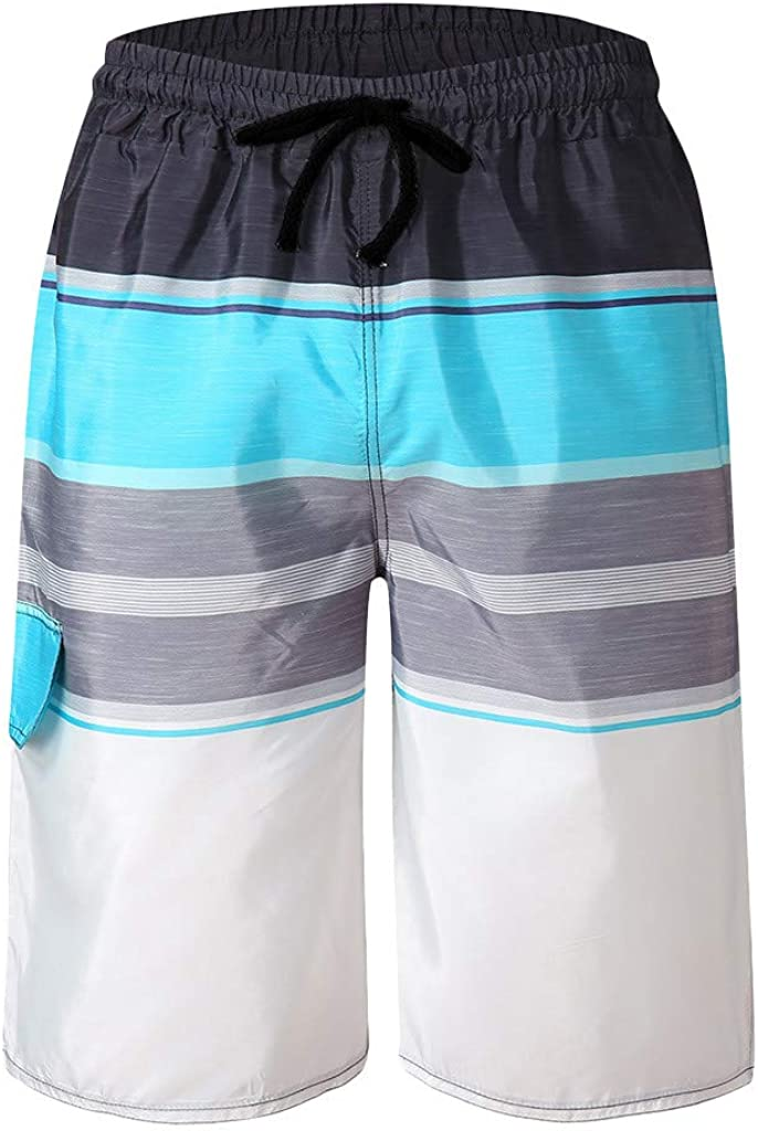 F/_Gotal Men/'s Casual Striped Drawstring Elastic Waist Sports Pants Training Jogger Shorts Sweatpants Shorts for Men