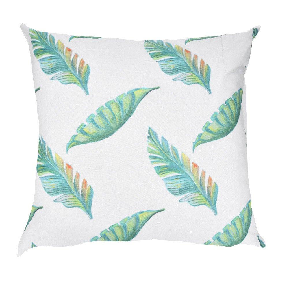 2019 Fashion Comfortable Pillow Cases,Makeupstore Green Leaf Print Super Soft Plush Decorative Pillowcases for Sofa Car Cushion Cover Home Decor (18 x 18 Inch)