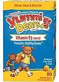 Yummi Bears Vitamin D3 Gummy Vitamin Supplement for Kids, 60 Gummy Bears