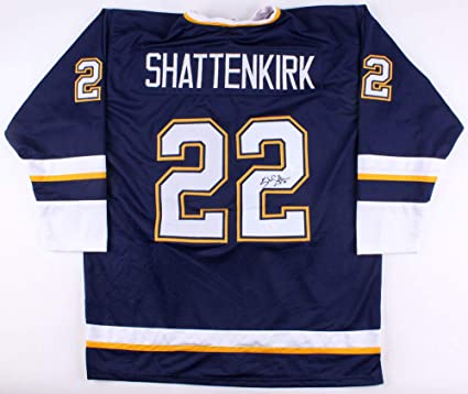 Kevin Shattenkirk Autographed Signed Blues Jersey - JSA Certified at ... 34e2d8686