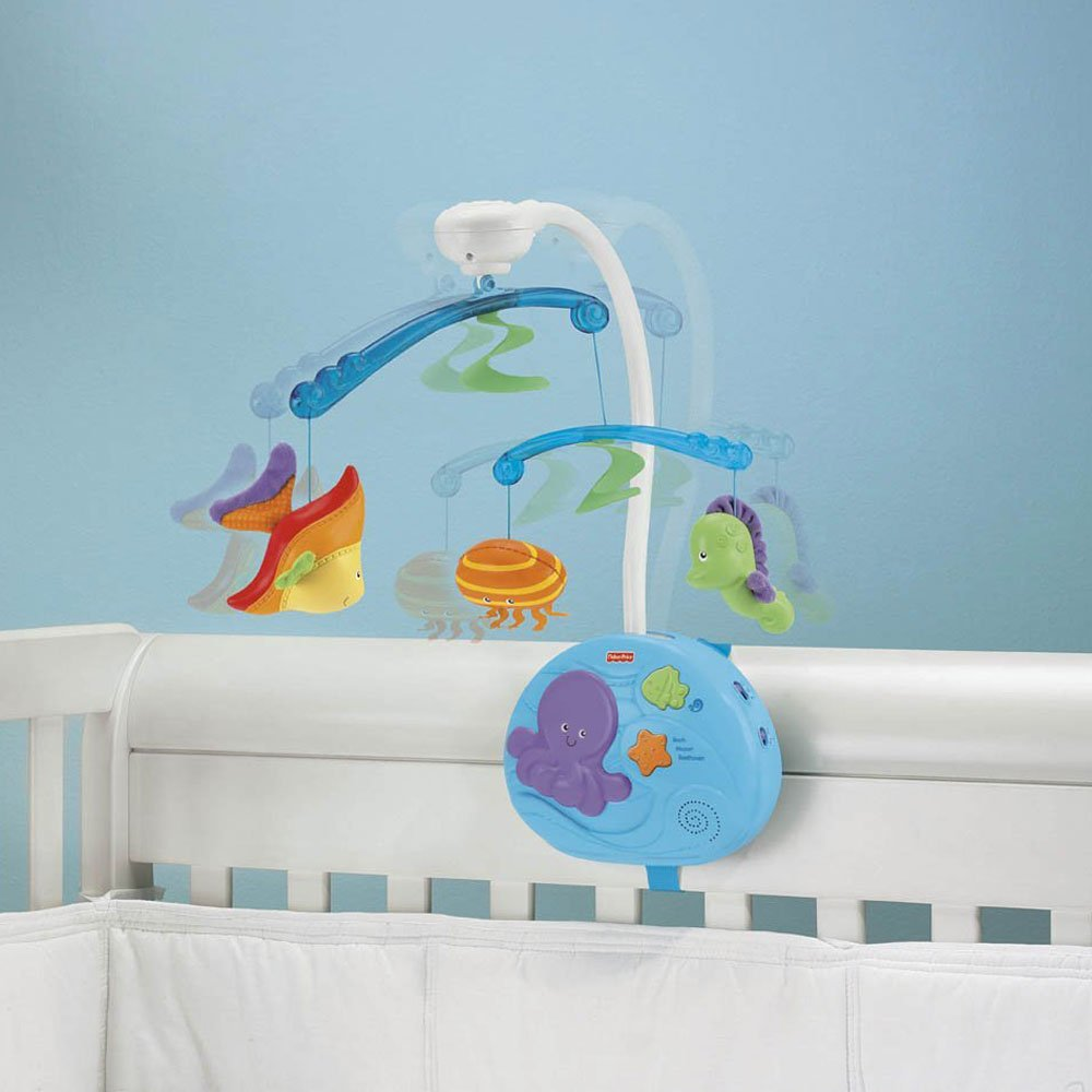 Fisher-Price Ocean Wonders Deep Blue Sea Mobile Fisher-Price Crib Mobiles Remote Control by Fisher-Price (Image #3)