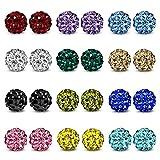 Best Girls Rings With Crystal Balls - JewelrieShop Rhinestone Crystal Ball Stud Earrings Fireball Stud Review