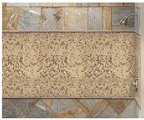 x 12 in Noche//Chiaro 12 in x 10 mm Travertine Mesh-Mounted Mosaic Tile