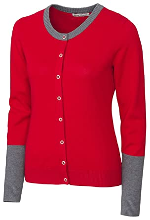 f747afa2752 Cutter And Buck Ladies Fashion Button Front Cardigan