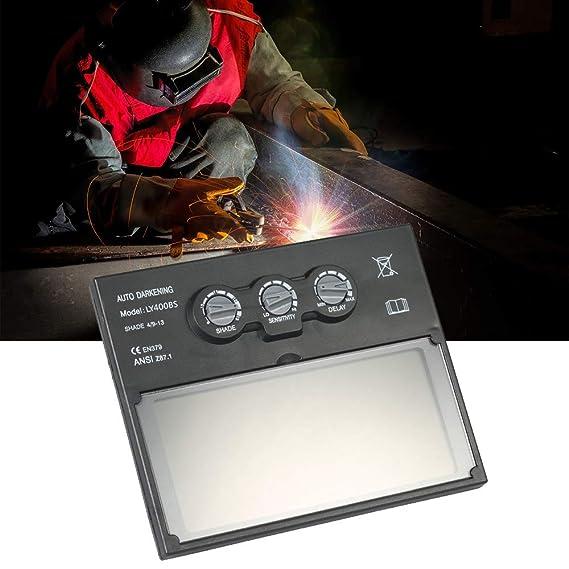 KKmoon Lente Solar Energía Automático Oscurecimiento Soldadura Casco Máscara Soldador Tapa Filtro Automático Sombra Máscara Gafas Lente con Ajustable ...