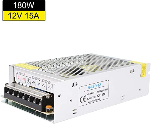 180W 12V 15A Switch Power Supply Adapter Transformer Driver For LED Strip Light