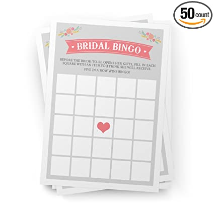 printed party bridal shower bingo game wedding and bridal shower favors activities games