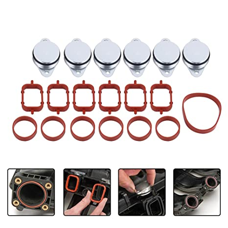 2a305d4d8 Amazon.com: 6x 33mm Diesel Swirl Flap Blanks Bungs Intake Gaskets Repair  Replacement Kit for BMW 320d 330d 520d 525d 530d 730d with Intake Manifold  Gaskets: ...