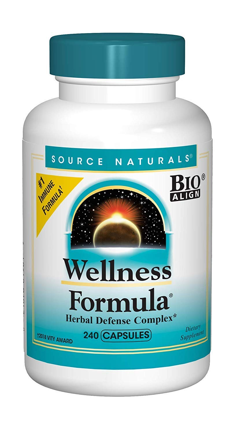 Source Naturals Wellness Formula Bio-Aligned Vitamins Herbal Defense – Immune System Support Supplement Immunity Booster – 240 Count