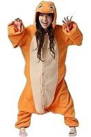 Rnmomo Unisex-adult Kigurumi Onesie Fire Dragon Pajamas (XL: 182 - 190cm (5.9' - 6.3') height)