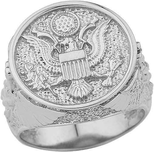 Army Insignia Charm 14K White Gold U.S