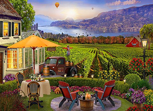 Vermont Christmas Company Wine Country Jigsaw Puzzle 1000 Piece