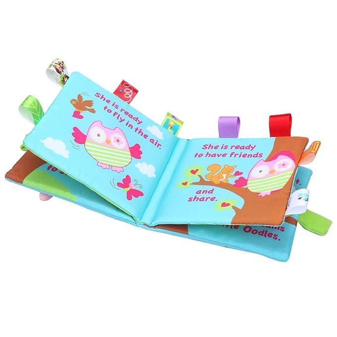 Juguetes de bebe niños niñas ❤ Amlaiworld Libro de tela de bebé Animales Búho Paño Suave Bebé Inteligencia Desarrollo Aprender Imagen Cognizar Libro ...