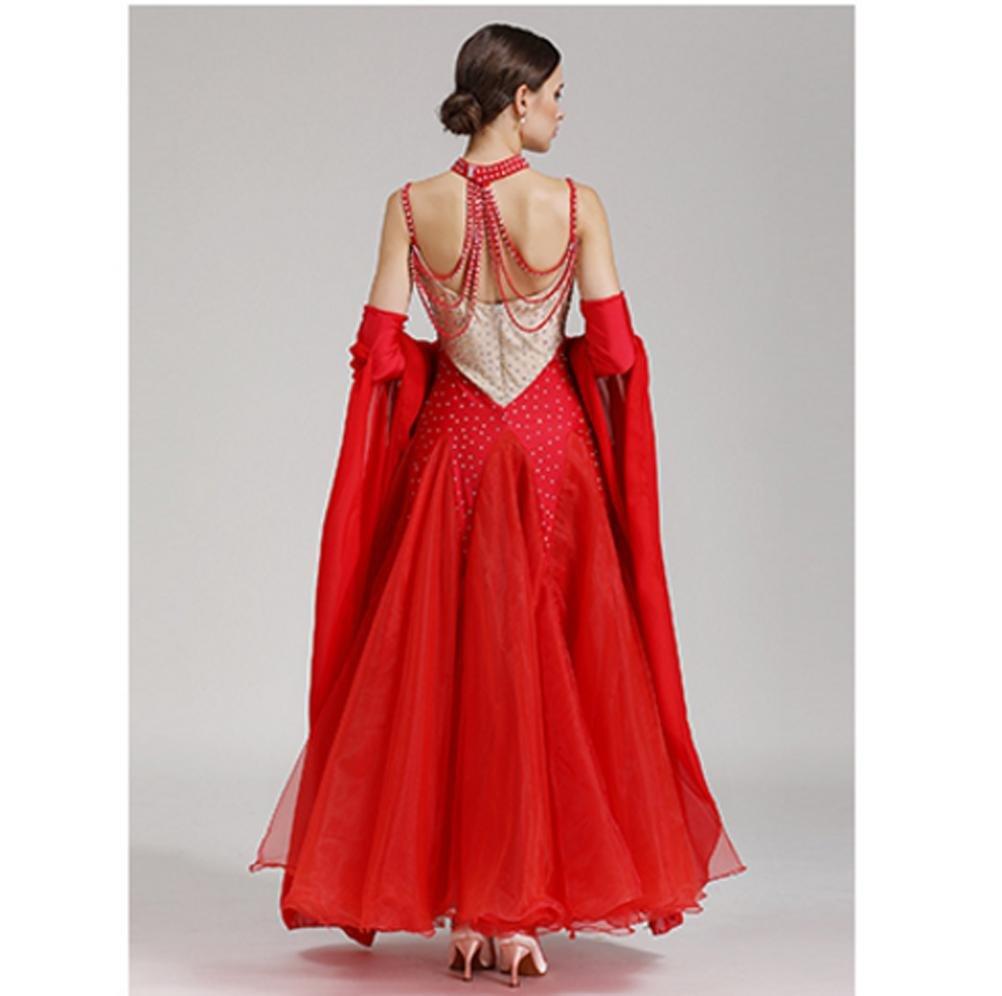 Wangmei Wangmei Wangmei Moderner Tanzrock Kostüm Für Frauen Nationale Standard Tanzkleider Wettbewerb Kleid Mit Strass B078JRVF9H Bekleidung Hochwertige Materialien 98bf84