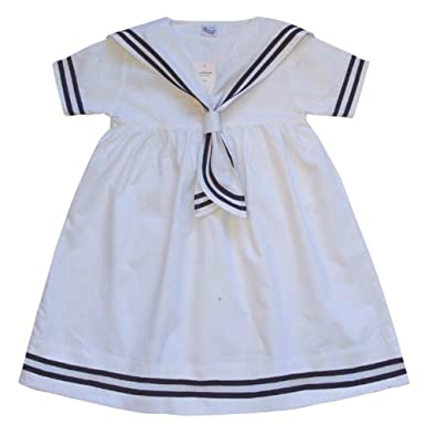 c02c8ec1 Image Unavailable. Image not available for. Color: Powell Craft Big Girls  Sailor Dress.100% Cotton.