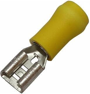 Aerzetix Klemme weiblich flach 4.8mm 0.8mm 0.5-1.5mm2 rot isoliert 10 x Kabelschuhe Kabelschuh