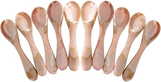 """Mother of Pearl Set of 100 3/"""" L Caviar Spoon"""