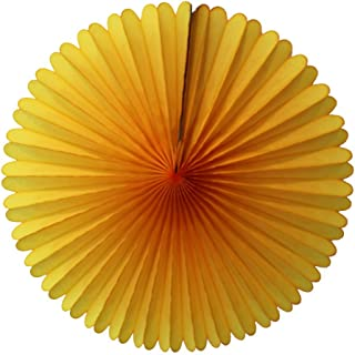 product image for 3-pack 13 Inch Tissue Paper Party Fans (Gold)