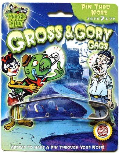 [Gross & Gory Gags Pin Thru Nose Trick] (Pin Thru Nose)