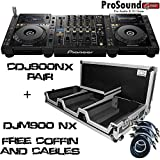 Pioneer CDJ900NXS Nexus + DJM900NXS Professional DJ System + Free ProXcases Coffin and RCA cables (ProSoundGear Authorized Dealer)