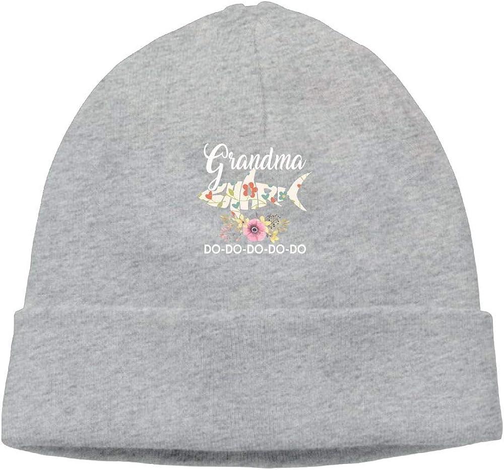 Grandma Flower Shark Do Do Do Beanie Cap Knit Caps Mens Slouchy Soft
