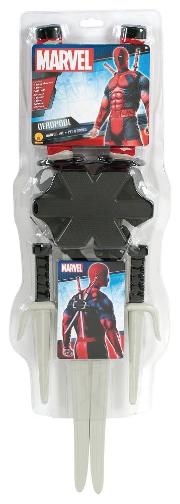 Rubies Costume Men's Marvel Classic Deadpool Weapon Costume Accessory Kit Multi One Size Rubies Costume Co (Canada) 36067_NS