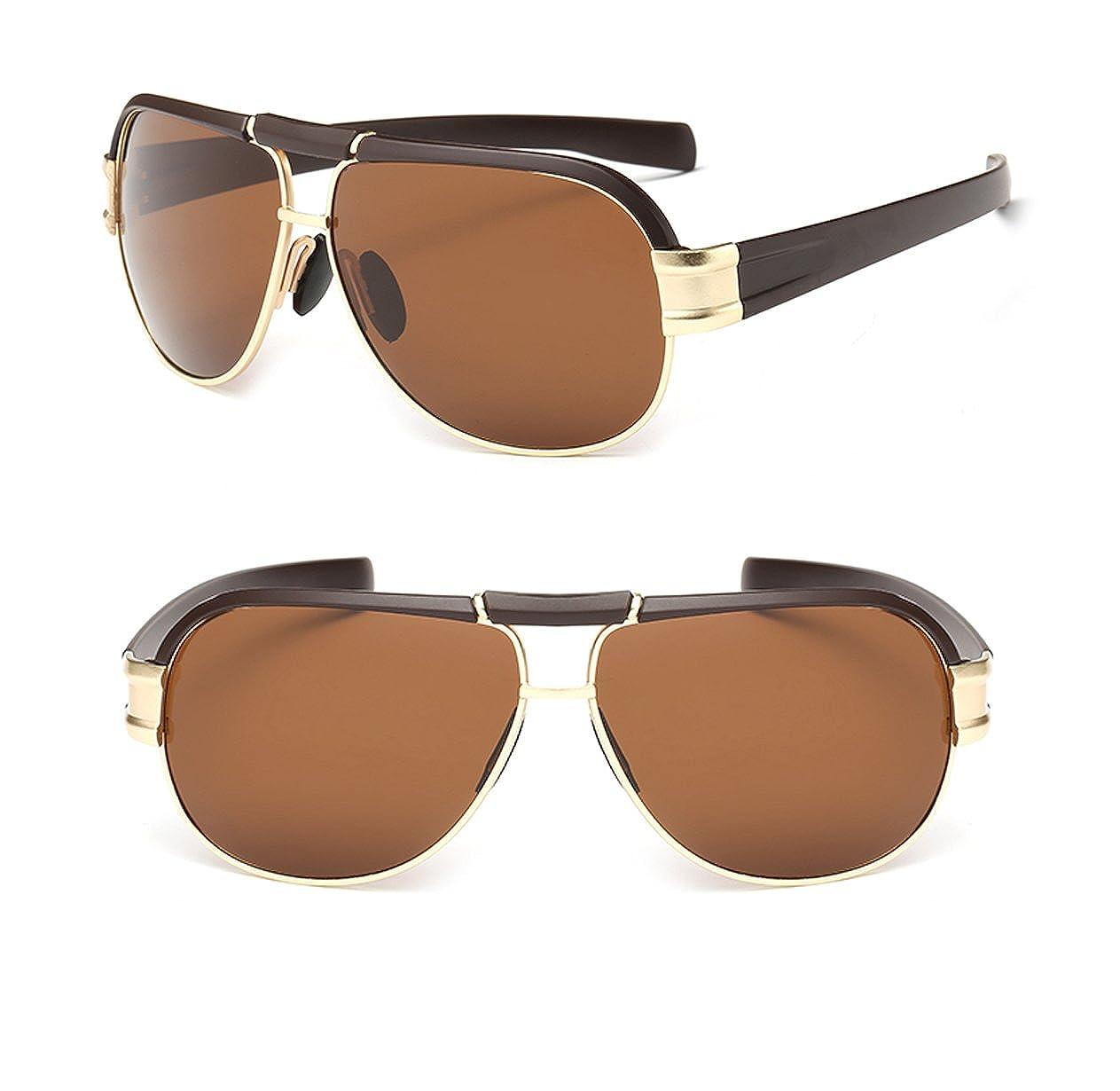 aa32e447bb63d Hombres gafas de sol polarizadas de protección UV400 conducción gafas de sol  8985  Amazon.es  Ropa y accesorios