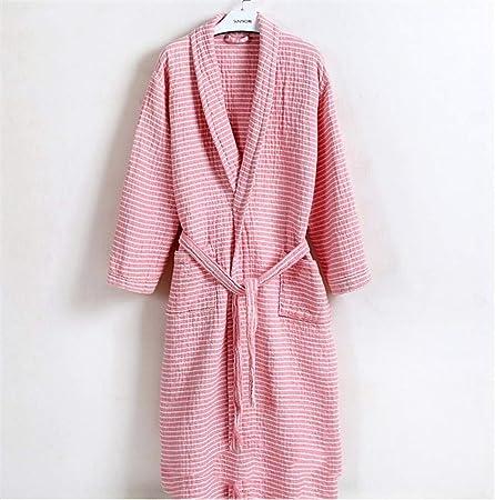 CVXCVCBCG Mujer Ropa De Dormir Batas Batas De Algodón De Invierno Caliente Albornoz Bata Bata De Dormir Pijamas Pieza (Color : Pink, Size : One Size): Amazon.es: Hogar