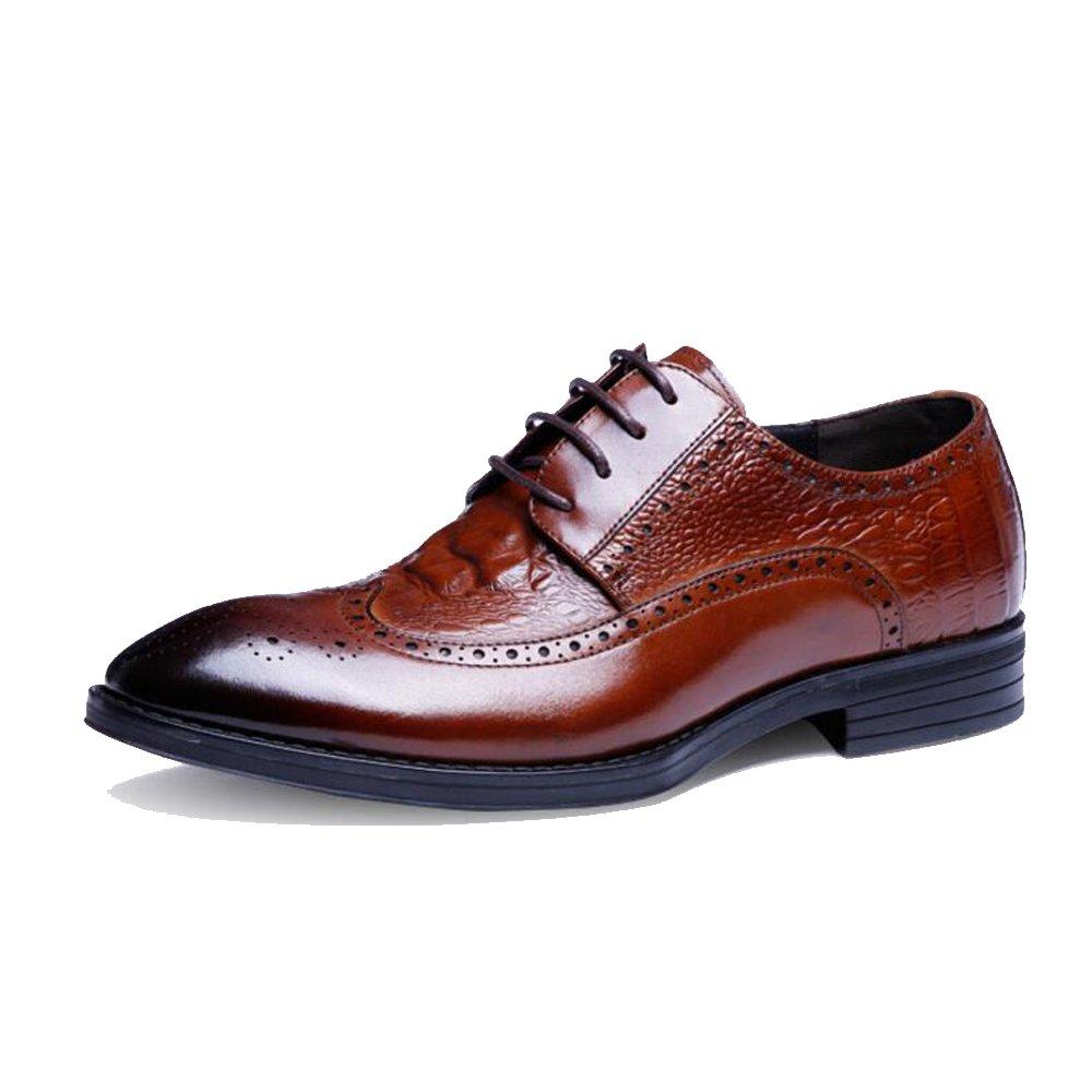 JUNBOSI Mens New Casual Schwarz Braun Burgund Formelle Schuhe Business Herrenschuhe - Herren Casual Block mit Lederschuhe UK Größe 6 7 8 9 10