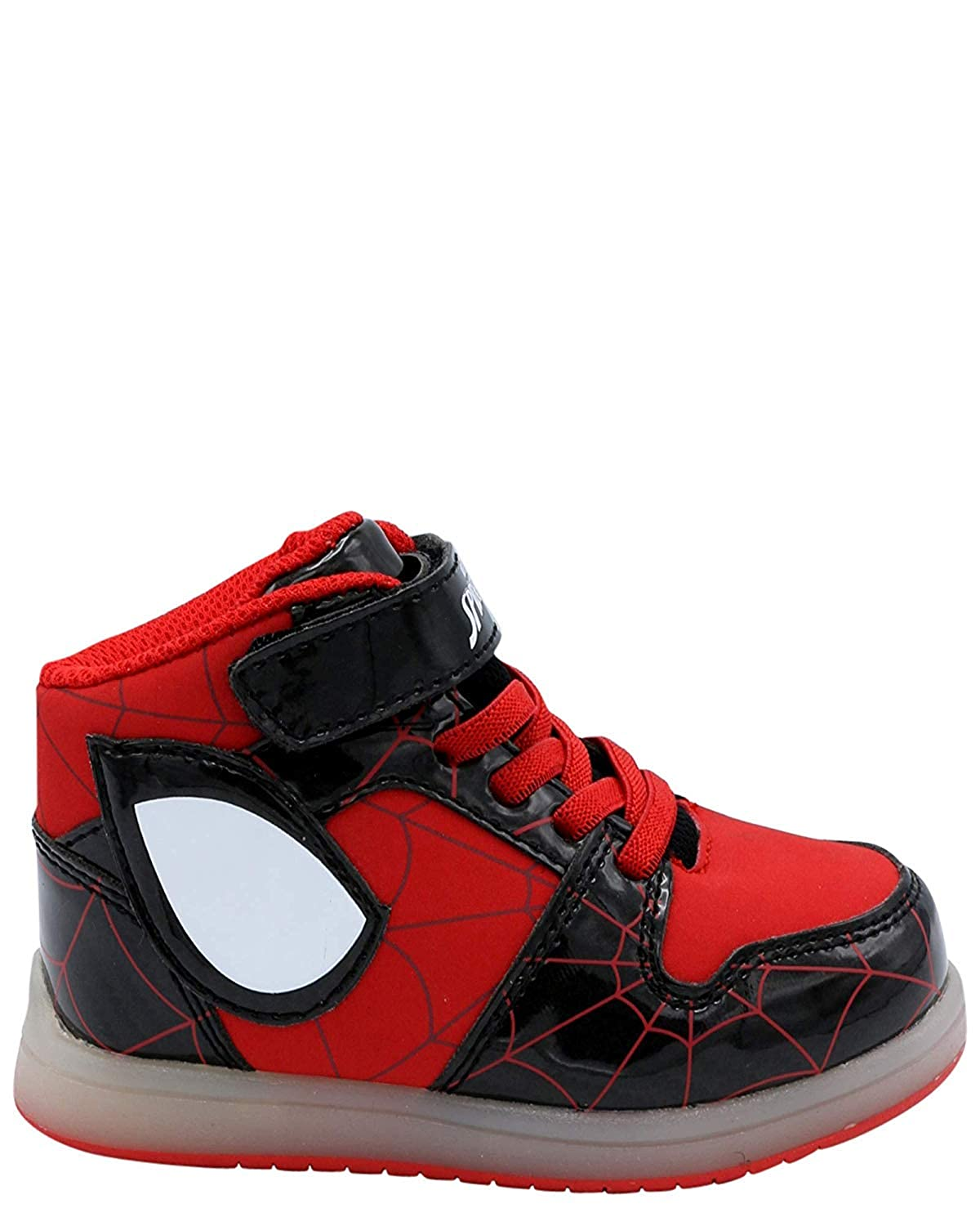 4f52a6219ff3a Favorite Characters Spiderman Kids Boy's Spiderman Lighted Sneaker (Toddler)