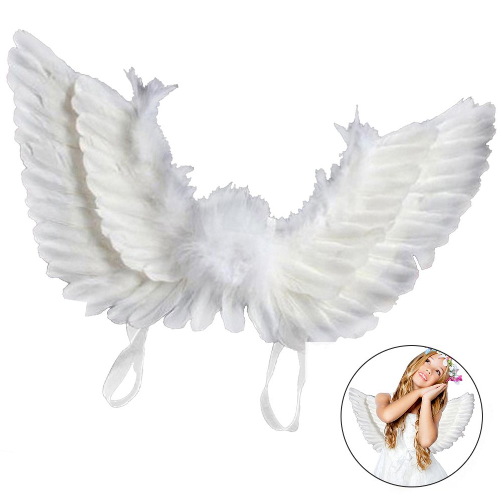Hootech Angel Feather Wings Christmas Party Costume Butterfly Style Xmas Gifts Black)