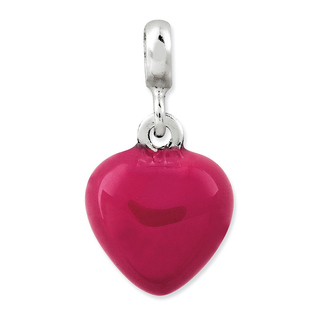 ICE CARATS 925 Sterling Silver Pink Enamel Heart Enhancer Necklace Pendant Charm Love Fine Jewelry Ideal Gifts For Women Gift Set From Heart