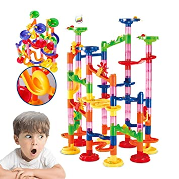 Large Marble Run Toy Set For Kids 105-Piece DIY Building Play Educational Toys