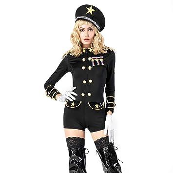 Traje De Policía Disfraz Mujer Uniforme De Policía Cosplay ...