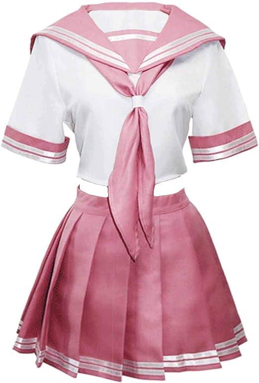 Fate//Grand Order Astolfo Sailor Suit Cosplay Costume Pink Uniform Set Top+Skirt