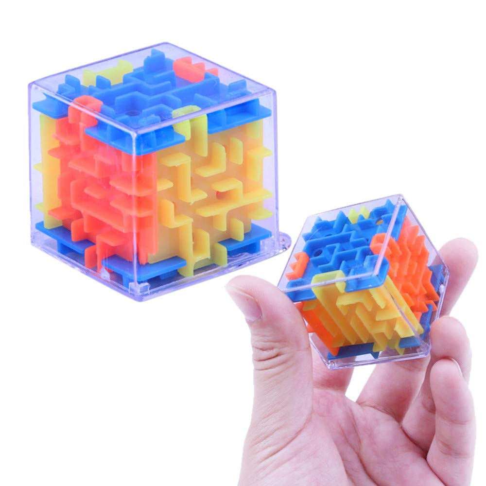 Wenini 3D Cube Puzzle Toy - New 3D Cube Puzzle Maze Toy Hand Game Case Box Fun Brain Game Challenge Fidget Toys (Multicolor) by Wenini (Image #3)