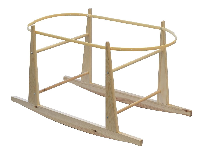 Shnuggle Rocking Moses Basket Pine Stand (Versand aus UK) SH-13