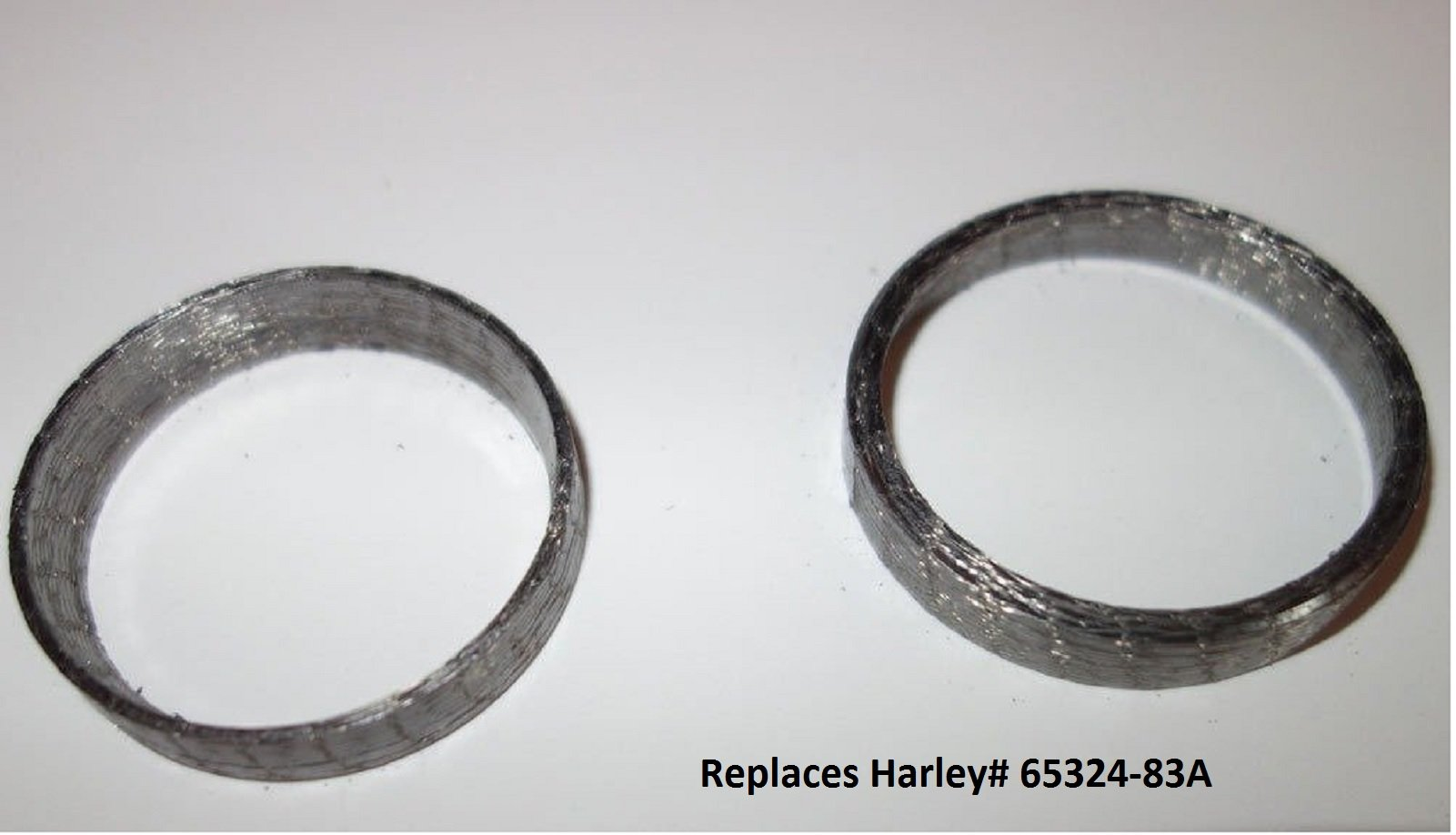 Orange Cycle Parts Tapered Exhaust Gaskets Pair (2) For Harley Big Twin 1984 - 2016 / 1986 - 2016 Sportster XL / Will NOT WORK on V-ROD repl. # 65324-83A