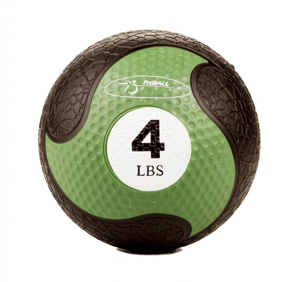 FitBALL MedBalls with Straps - 4 lb - Green
