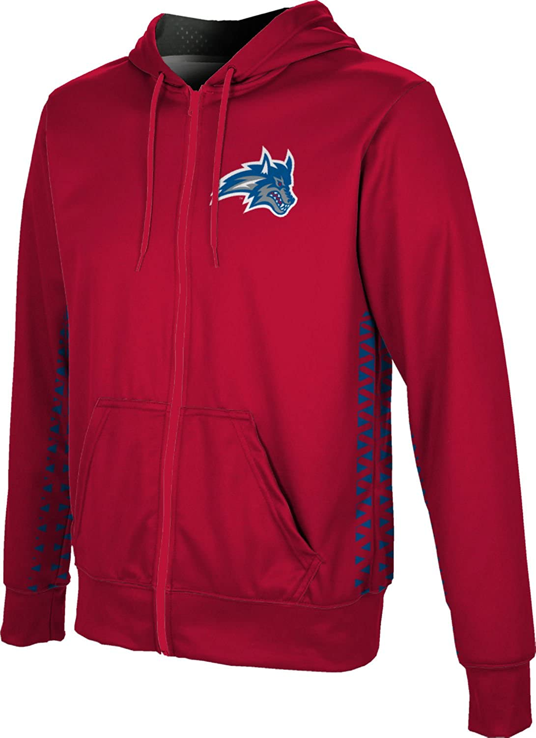 ProSphere Stony Brook University Boys Full Zip Hoodie Geometric