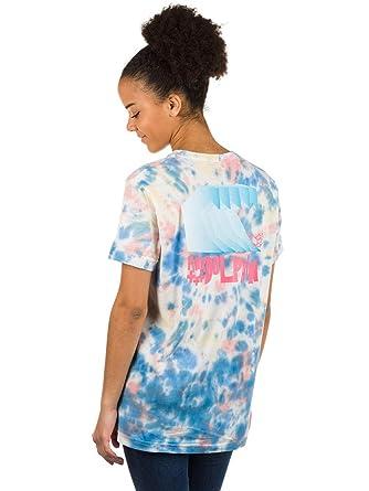 855d6a9d T-Shirt Women Pink Dolphin Waves Block Multie Tie Dye T-Shirt ...