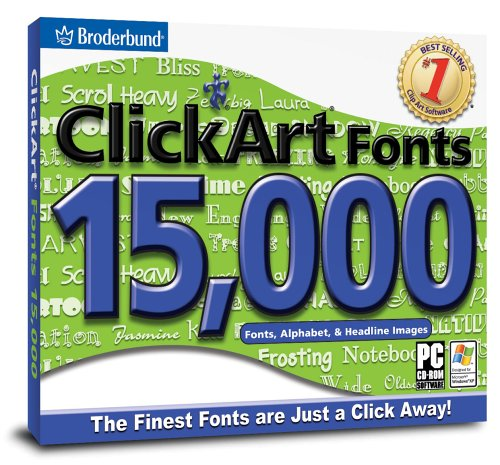 (ClickArt Fonts 15,000 )