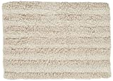 Chesapeake Merchandising 37403 Striped Cotton Reversible Bath Rug (6 Pack), 30'' x 50'', Ivory