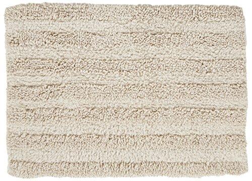 Chesapeake Merchandising 37403 Striped Cotton Reversible Bath Rug (6 Pack), 30'' x 50'', Ivory by Chesapeake Merchandising